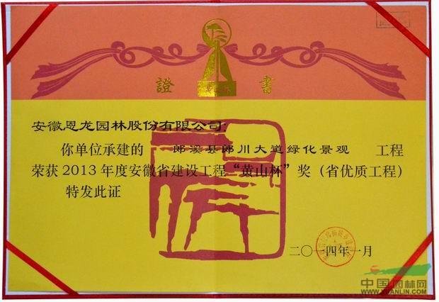 """安徽省建设工程""""黄山杯""""奖"""